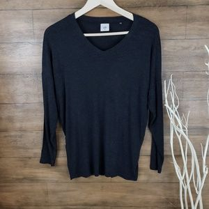 CAbi V neck long sleeve sweater top